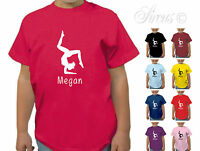 PERSONALISED GYMNASTICS GYMNAST BOYS GIRLS T-SHIRT TSHIRT KIDS CHILDRENS