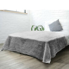 Coral Fleece Blanket Sofa Cover Mink Throw Super Soft Winter Bed Sheet Coverlet
