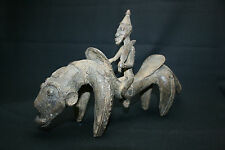 Bronce africana de latón material fundido personaje dogon jinete estatua de Malí