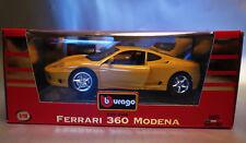 6755:Bburago Ferrari 360 Modena,1999,1:18,gelb,Gold Collection,Mod.3368, OVP.