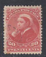 "Canada Scott #46  20 cent vermilion ""Small Queen""   F"