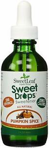 Sweet Drops Liquid Stevia by SweetLeaf, 2 oz Pumpkin Spice 1 pack