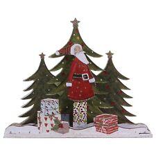 Old Time Santa nel Bosco con regali di Natale in piedi / seduta ornamentale