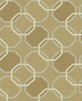 Maze Geometric Shimmering Wallpaper In Brown Beige