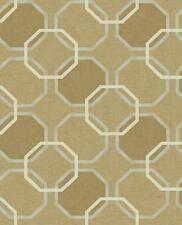 Wallpaper Modern Geometric Trellis in Gold Tan Beige