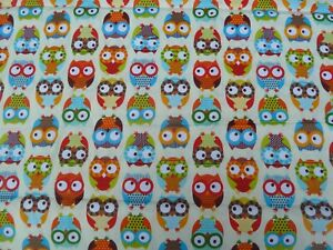 OWLS - Cotton Fabric - FQ