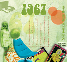 51st BIRTHDAY or ANNIVERSARY - 1967 Compilation Pop CD and Year Greeting Card