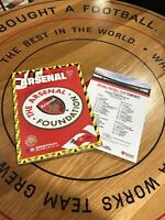 Arsenal v Manchester Man City, Programme & Team Sheet, 15.12.19, MINT