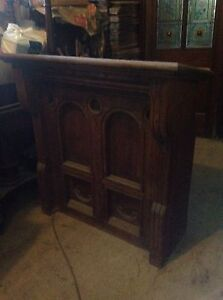 large gothic victorian church chapel oak pulpit lectern desk bookcase christian