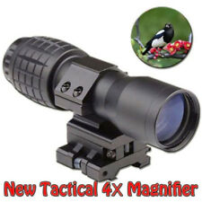 4X Magnifier Scope Sight +Flip-to-Side 20mm Mount Reflex Monocular Scope Sights