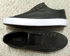 Comfort GUESS Charcoal LEATHER White Men's Size 9.5 Sneakers Walking Shoes