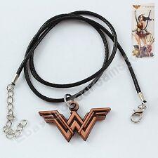 Justice League Wonder Woman W Logo 4cm/1.6'' Metal Pendant Necklace Chain In Box