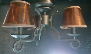 Casablanca ceiling fan light kit KG3S-8 matte black with mica shades