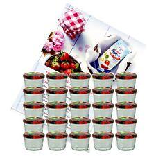 24 Sturzgläser 230ml Obst Dekor Einweckgläser Einmachgläser Marmeladenglas Glas