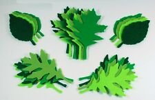 Die Cut Felt Leaves Green Assorted Colours Scrap Booking Large Toppers Embellish