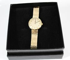 Vintage 9K Gold Omega Mécanique Main Wind Women's Watch-entièrement entretenue