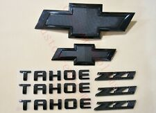 8PCS 2015-2020 Chevrolet Tahoe All Black Bowtie Emblems Front & Rear Z71