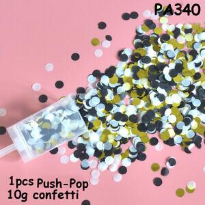 Push-Pop Confetti Party Favors Round Flower Paper Festival Wedding Supplies DIY