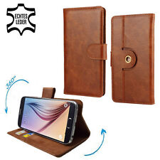 Mobile Phone Genuine Leather Case For MEDION LIFE E4504 - 360 Brown S