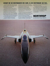3/1985 PUB NORTHROP F-20 TIGERSHARK USAF TACTICAL FIGHTER ORIGINAL FRENCH AD