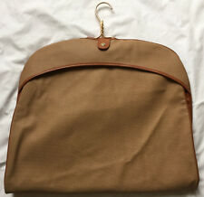 Vintage American Tourister Garment Bag Hanging Travel Suit Dress Shirt Tag Brown