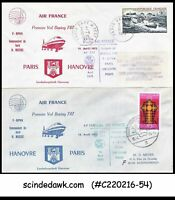 FRANCE - 1975 AIR FRANCE BOEING 747 PARIS-HANOVRE-PARIS - FFC 2nos