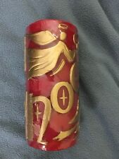 *New* Noel Holiday Christmas Angel Candle Red & Gold