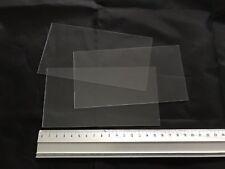 10 x CLEAR PVC Plastic Sheet 160 x 85 x 0.6mm Model Making, Art, Craft