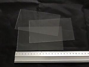 10 x Clear Gloss PVC Plastic Sheet 160x85x0.6mm Model Making Arts Crafts DIY