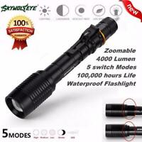 Zoomable XML T6 LED Super Bright Flashlight Camping Hiking Torch Lamps 4000LM UK