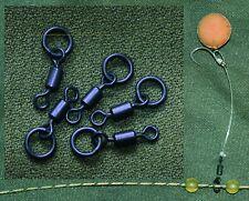 Size 11 uni link / flexi ring swivel quantity 10 swivels black carp fishing