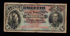 BOLIVIA  1  BOLIVIANO  1900   BANCO DEL COMERCIO  PICK # S131  FINE+.