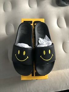 Brand New in Box Chinatown Market Slides Black Size 11 Smiley Face