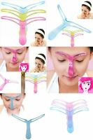 Eyebrow Shaper Makeup Reusable Template Tool DIY Brow Arch Shaping Stencil