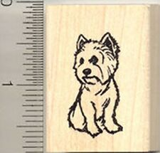 West Highland White Terrier Rubber Stamp WM C8107 dog