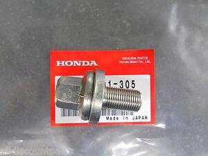 Genuine Honda Civic CRX Del Sol Crank Pulley Bolt Washer Set 14X29 SOHC VTEC