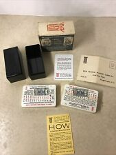 Vintage Kem Plastic Playing Cards GameCock. With Tax Stamp