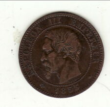 NAPOLEON III 2 Centimes  1855  MA  ancre  cote TTB 75 EURO /SUP 180 EURO