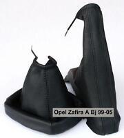 Opel Zafira A Echtleder Farbe Schwarz Schaltsack Manschette Handbremsmanschette