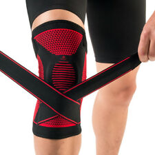 Kuangmi Knee Brace Spring Support Silicon-ring Adjustable Bandage Size L