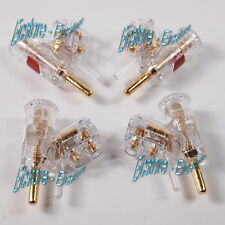 WBT 0610 Cu Safety-pin Angled Banana Connectors - 4pcs Box Set