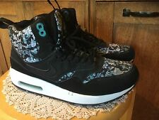 Pre Owned Nike Air Max High Top Athletic Shoes.  Mens 7M.  Black, Turquoise
