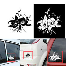 White Flower Mirror Wall Decal Car Removable Sticker Home Decoration