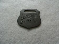 License to butt in Vintage Watch Fob
