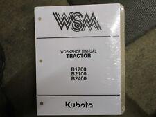 Kubota B1700 B2100 B2400 B 1700 2100 2400 tractor service & repair manual