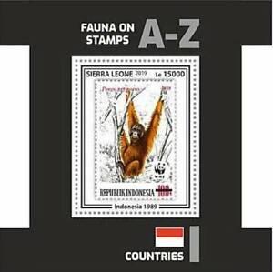 Sierra Leone - 2019 Stamp on Stamp WWF - Stamp Souvenir Sheet - SRL191002b2