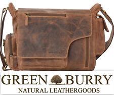 Greenburry Vintage Umhängetasche Messengerbag 39x28x16cm braun Leder !bestprice!