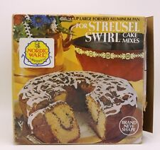 VTG NORDIC WARE 12 Cup Harvest Gold Aluminum Streusel Swirl Cake Bundt Pan Box