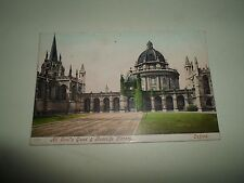 OLD Postcard All Soul's Quad & Radcliffe Library Oxford Franked+Stamped 1907