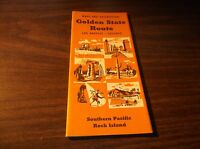 MARCH 1951 SOUTHERN PACIFIC-ROCK ISLAND GOLDEN STATE ROUTE BROCHURE
